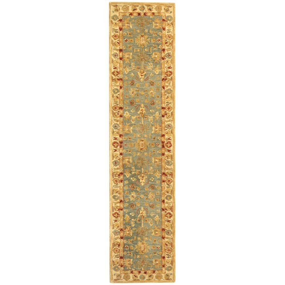 Anatolia Blue/Ivory 2 ft. 3 in. x 8 ft. Runner