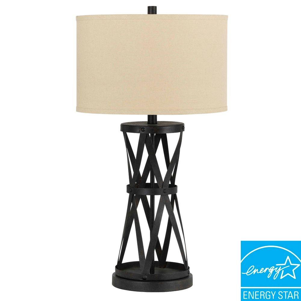 Cal Lighting 29 5 In Passo Metal And Iron Table Lamp Bo 2182tb