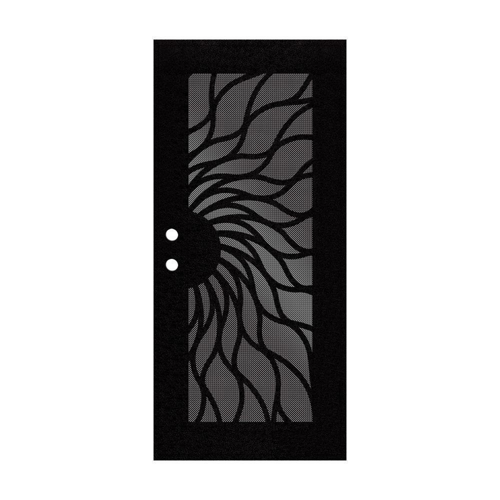 Sunfire Copperclad Surface Mount Aluminum Security Door with Perforated Aluminum Screen