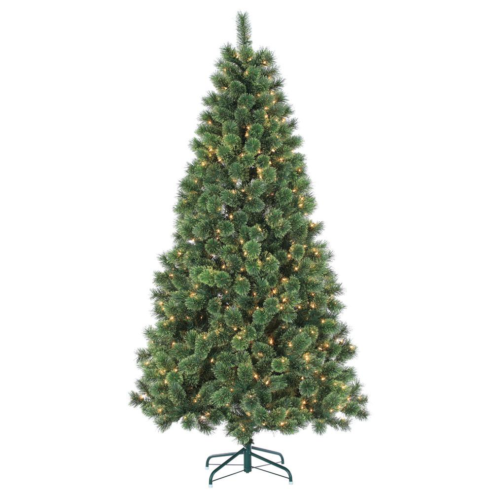 Sterling 7 Ft Pre Lit Hard Needle Deluxe Cashmere Artificial  - 7 Ft Artificial Christmas Trees
