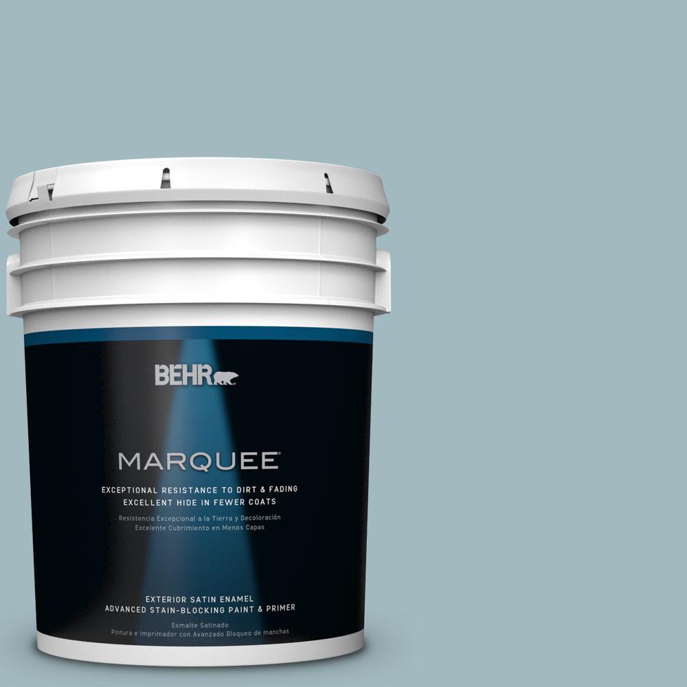 BEHR MARQUEE 5-gal. #BIC-23 Hopeful Blue Satin Enamel Exterior Paint