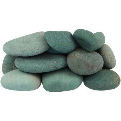 12.0 cu. ft. 1 in. to 3 in. 900 lbs. Tahiti Green Beach Pebbles