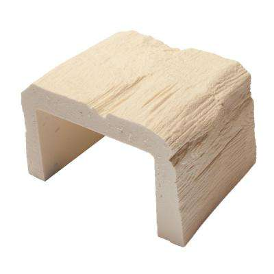 8 in. x 5-1/8 in. x 6 in. long Unfinished Faux Wood Beam Sample