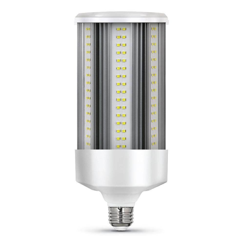 500-Watt Equivalent Corn Cob E26 with E39 Mogul Adapter High Lumen HID Utility LED Light Bulb Daylight (5000K) (1-Bulb)