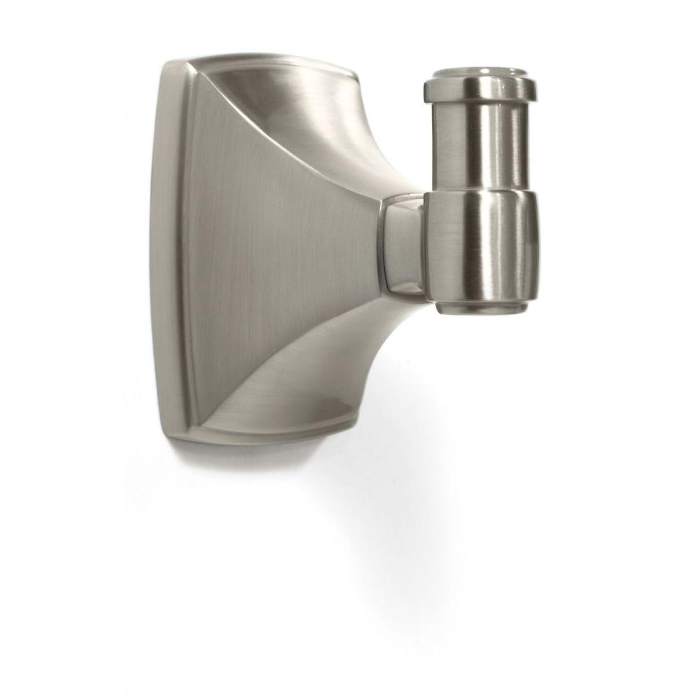 Clarendon Wall Mount Single Robe Hook in Satin Nickel