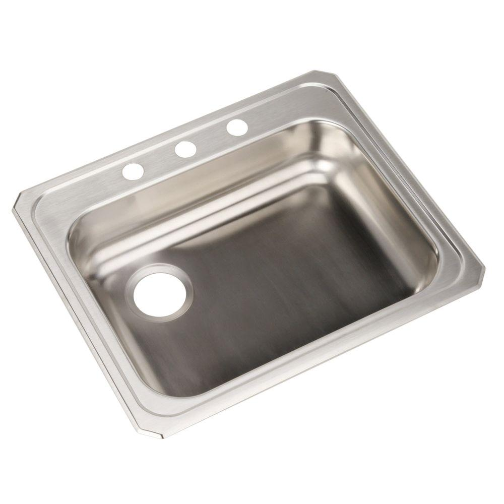 Elkay Celebrity Drop-In Stainless Steel 25 in. 3-Hole Single Bowl Kitchen Sink