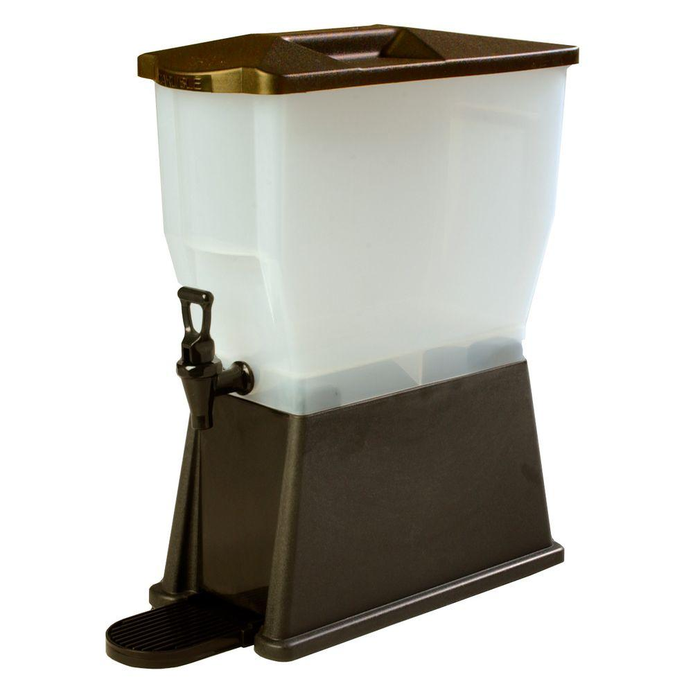 3 gal. Single Reservoir Premium Trim Polypropylene Beverage Dispenser in Dark
