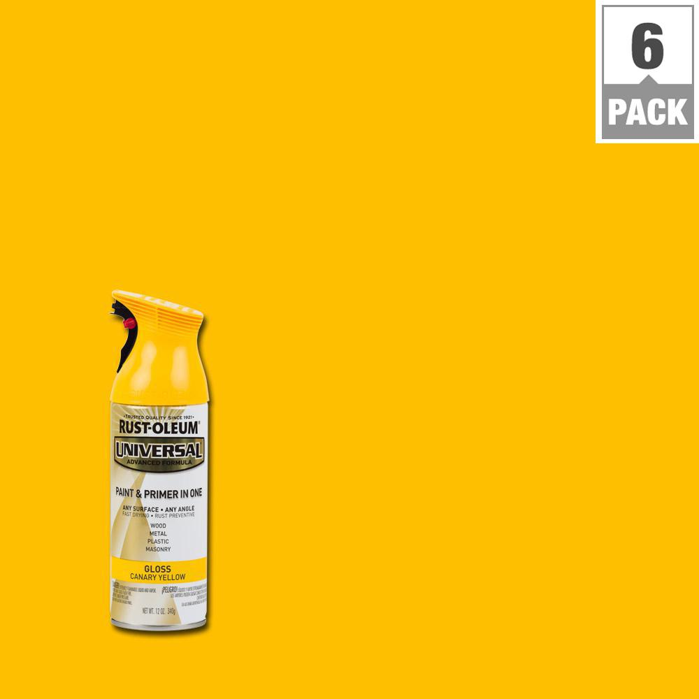 12 oz. All Surface Gloss Canary Yellow Spray Paint and Primer