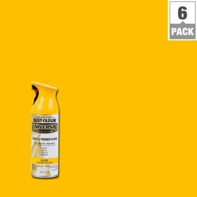 12 oz. All Surface Gloss Canary Yellow Spray Paint and Primer in One (6-Pack)
