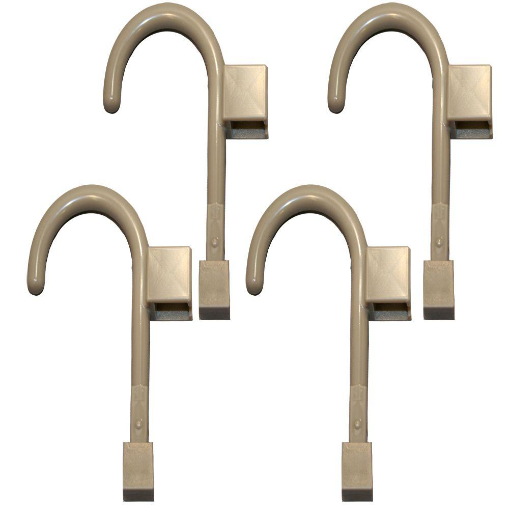 Global Door Controls 4 Universal Hooks in Warm Gray