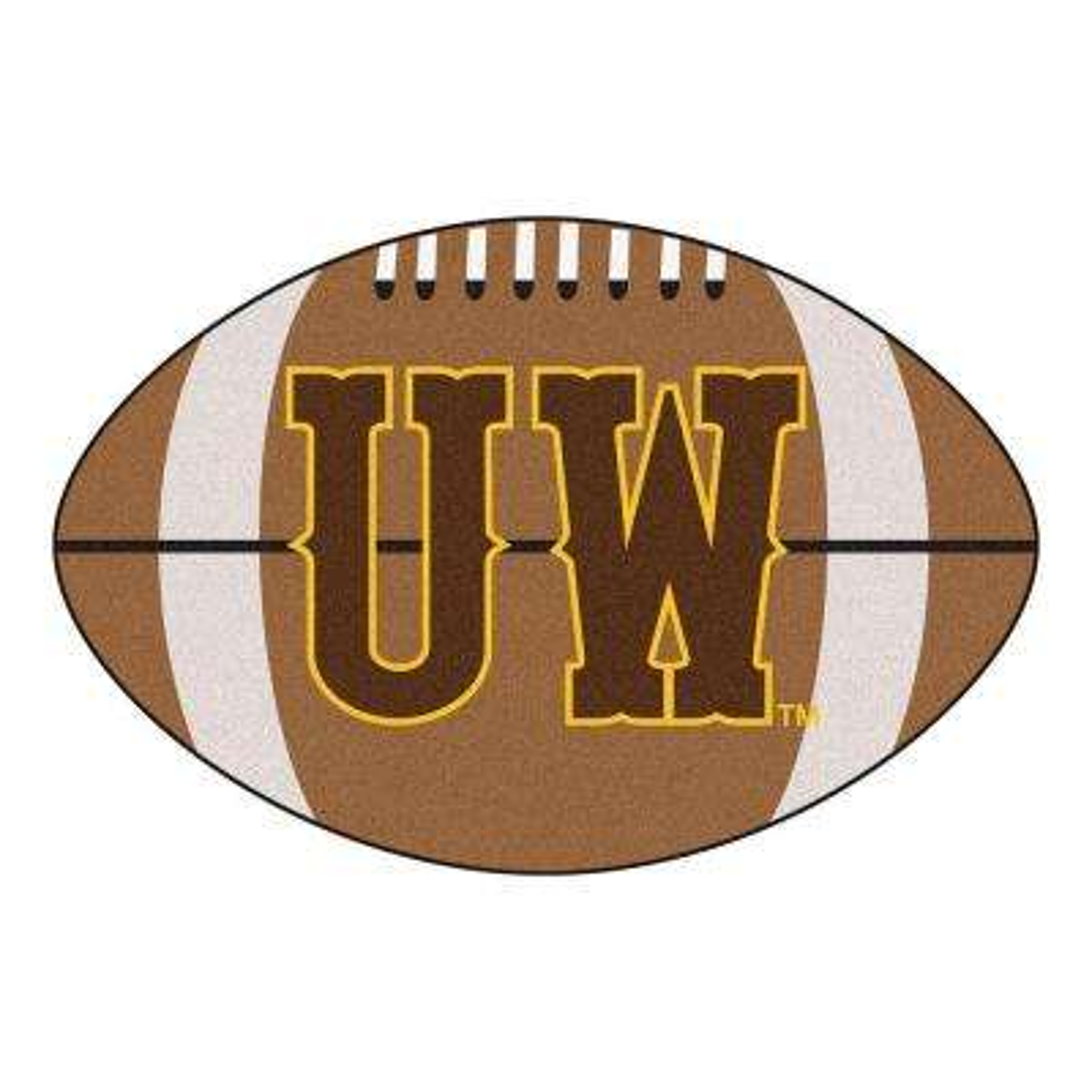 NCAA University of Wyoming UW Logo Brown 1 ft. 10 in. x 2 ft. 11 in. Specialty Accent Rug
