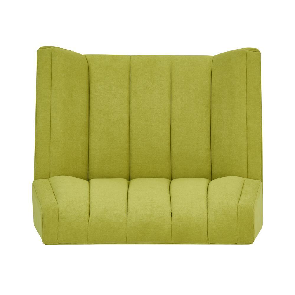 handy living rochelle apple green plush low pile velvet mid century