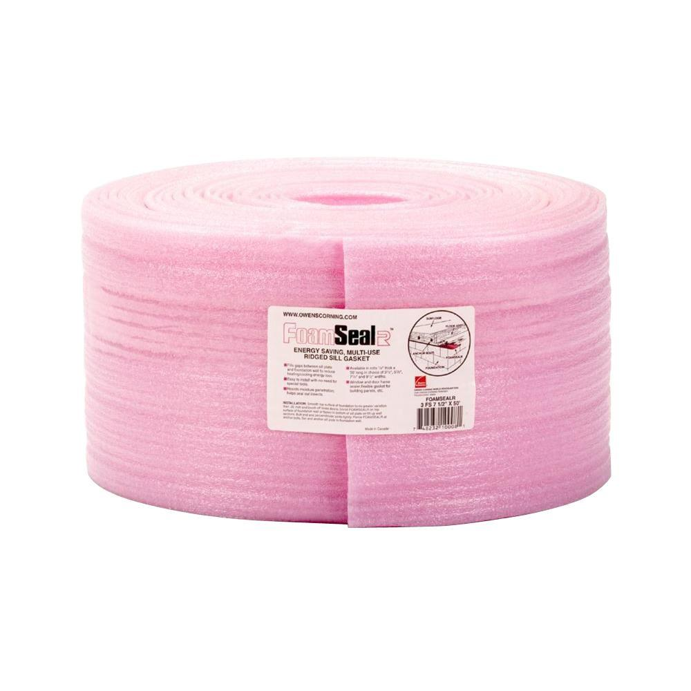 FoamSealR 7-1/2 in. x 50 ft. Multi-Use Ridged Sill Plate Gasket