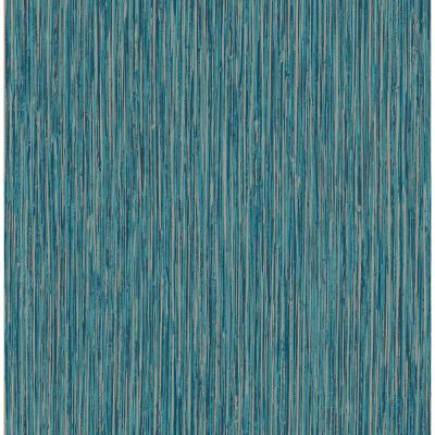 Kofi Blue Faux Grasscloth Wallpaper Sample