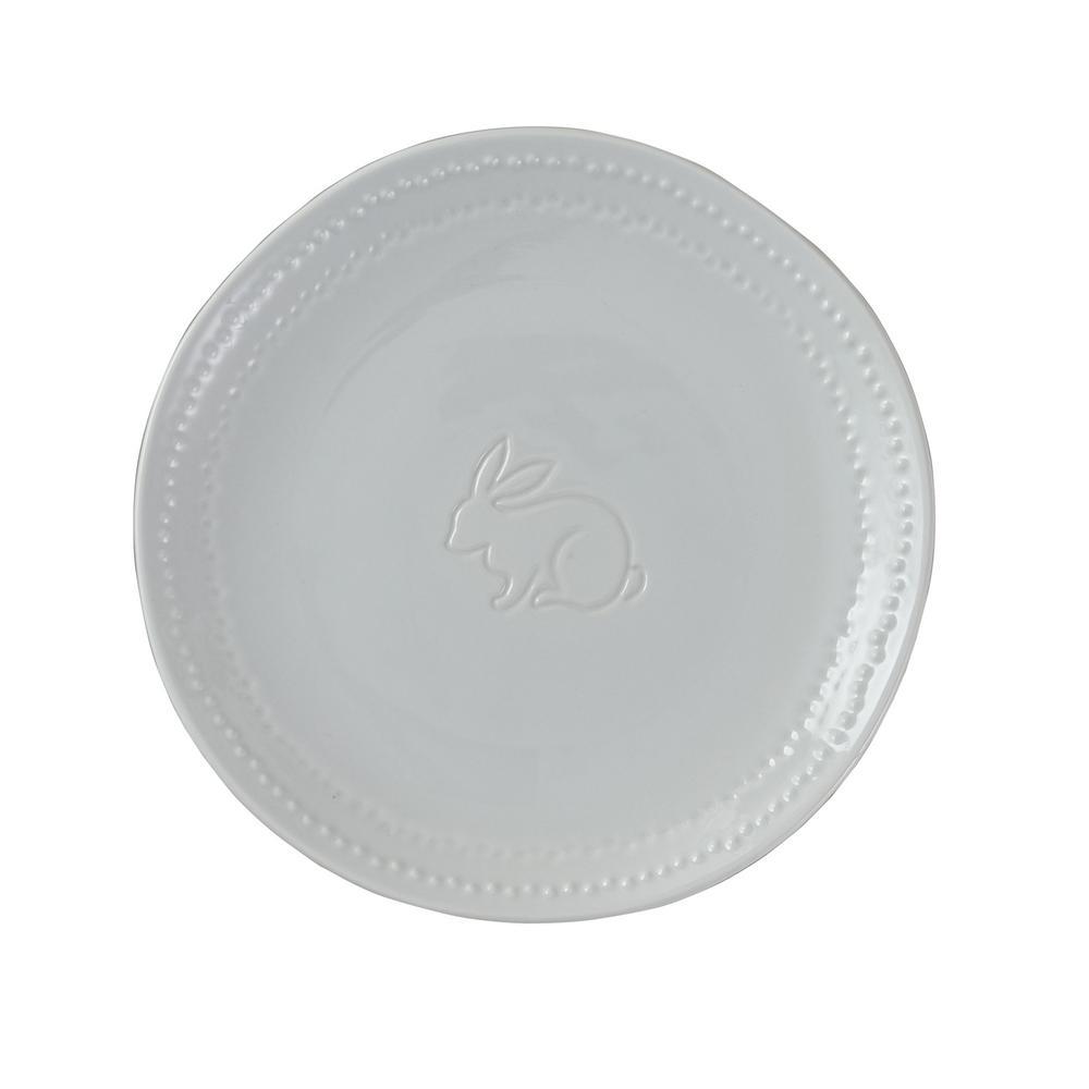 Peyton Bunny White Salad Plate (Set of 4)