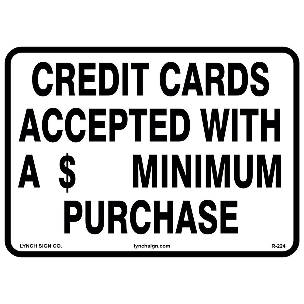 Lynch sign 14 in x 10 in credit cards accepted sign printed on credit cards accepted sign printed on more colourmoves