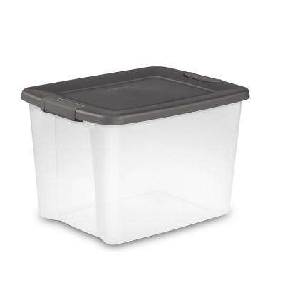 8 PACK Storage Box Sterilite Plastic 58 Qt Container Clear Stackable Bin Lid
