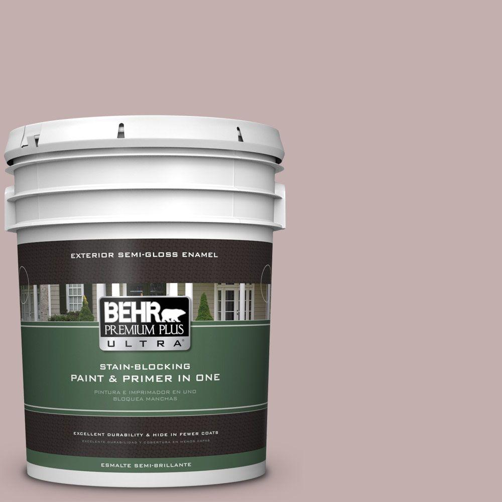 BEHR Premium Plus Ultra 5-gal. #N130-3 Moonlit Mauve Semi-Gloss Enamel Exterior Paint