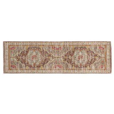 Multicolor 2.5 ft. x 8 ft. Distressed Runner Rug