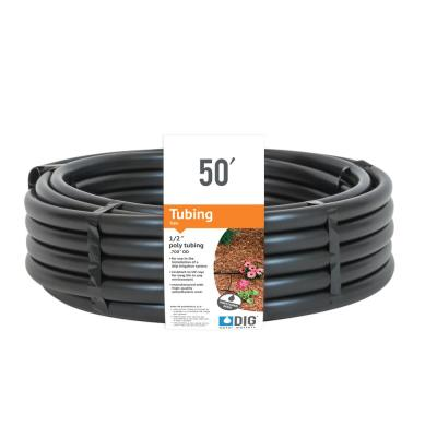 1/2 in. (.700 O.D.) x 50 ft. Poly Drip Irrigation Tubing
