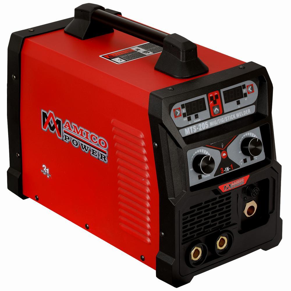 AMICO POWER 205 Amp MIG Wire Feed/Flux Core/TIG Torch/Sti...