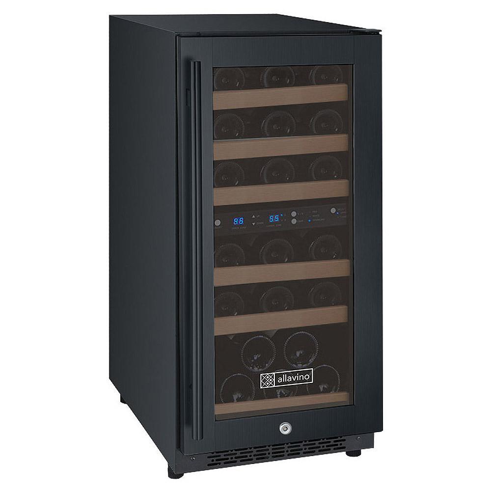 FlexCount Series 30-Bottle Dual-Zone Wine Refrigerator - Black
