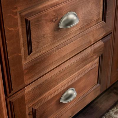 Essentials Farmhouse 3 in. (76mm) Center-to-Center Satin Nickel Bin Drawer Pull (10-Pack)