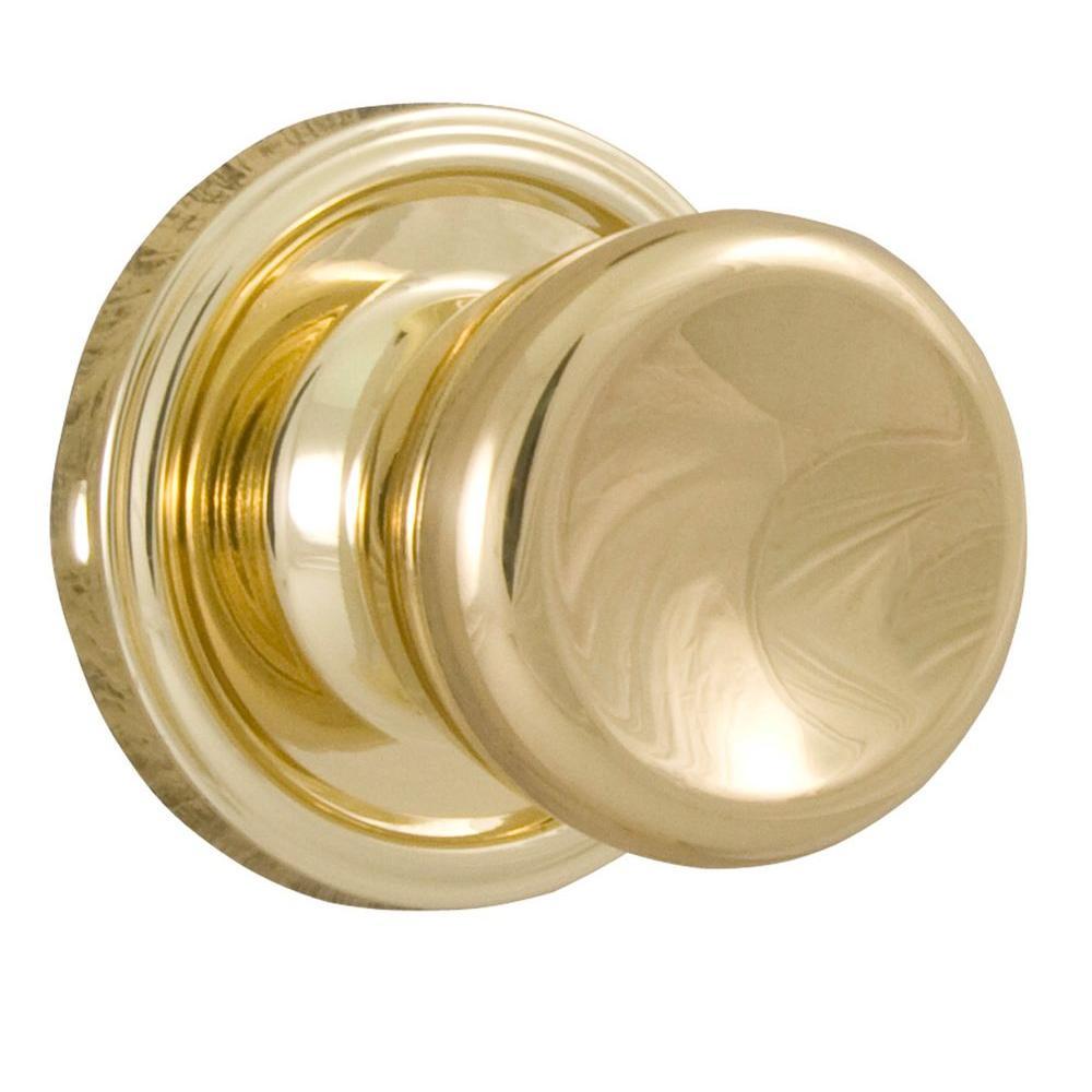 Weslock Essentials Polished Brass Passage Sonic Knob
