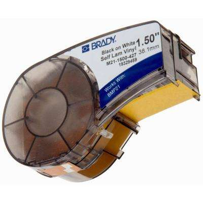 Brady Series Label Cartridge 1.5 in. W x 0.5 in. H B427 Self-Laminating Vinyl, Black on White Labels