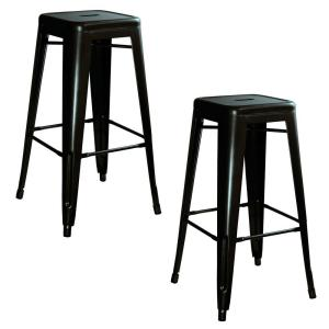 Internet #205461762. AmeriHome Loft Style 30 in. Stackable Metal Bar Stool in Black ...  sc 1 st  The Home Depot & AmeriHome Loft Style 30 in. Stackable Metal Bar Stool in Black ... islam-shia.org