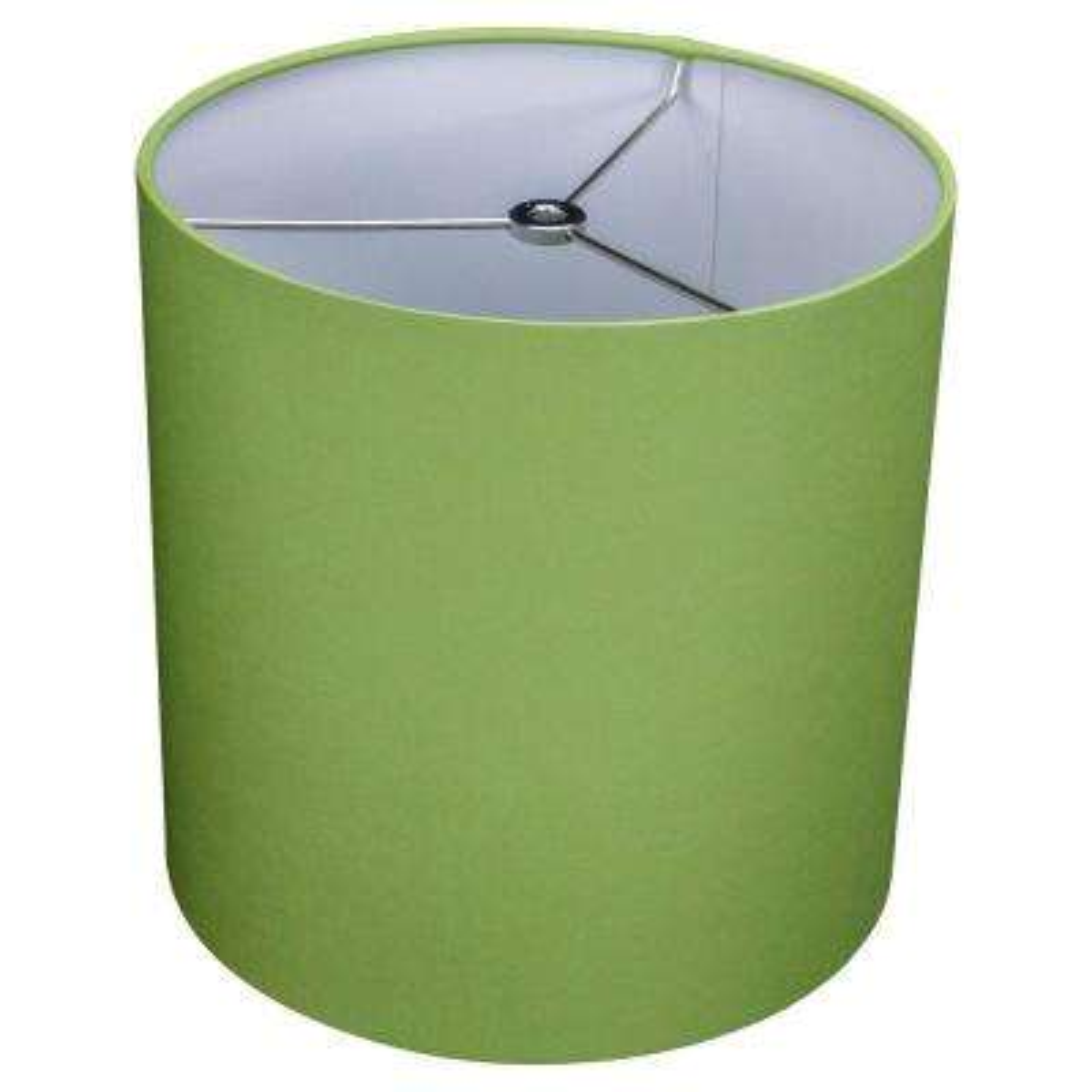 10 in. Top Diameter x 10 in. H x 10 in. Bottom Diameter Linen Peridot Drum Lamp Shade