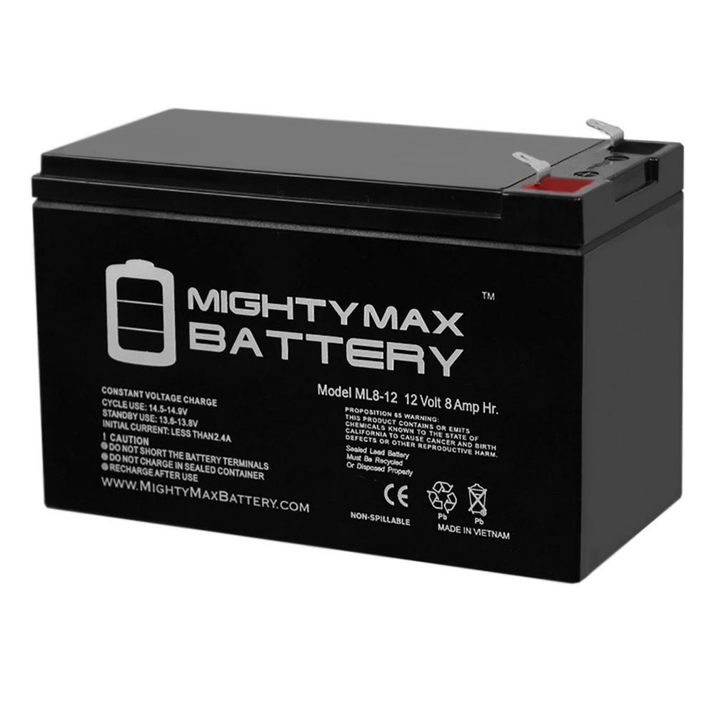 12-Volt 8 Ah Sealed Lead Acid (SLA) Battery Includes 12-Volt Charger