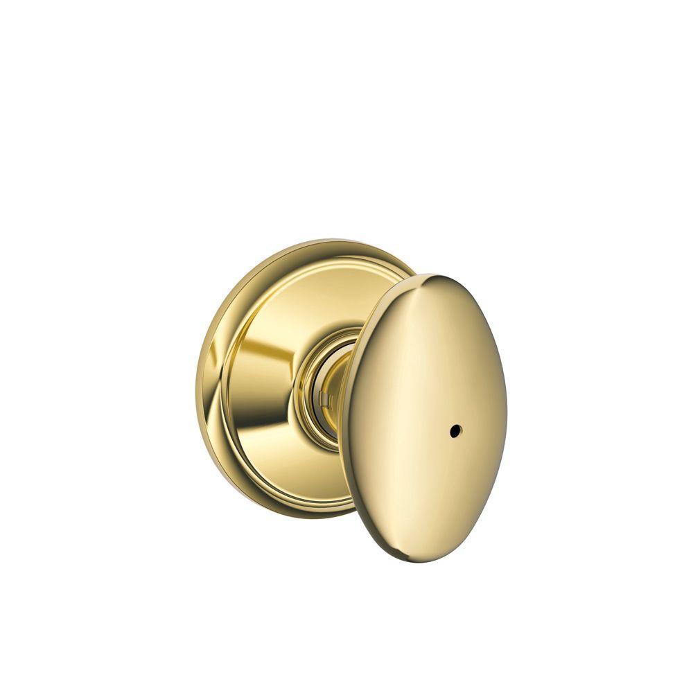 Schlage Siena Bright Brass Bed and Bath Knob