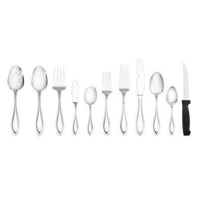 American Bead 53-Piece Stainless Steel Flatware Set