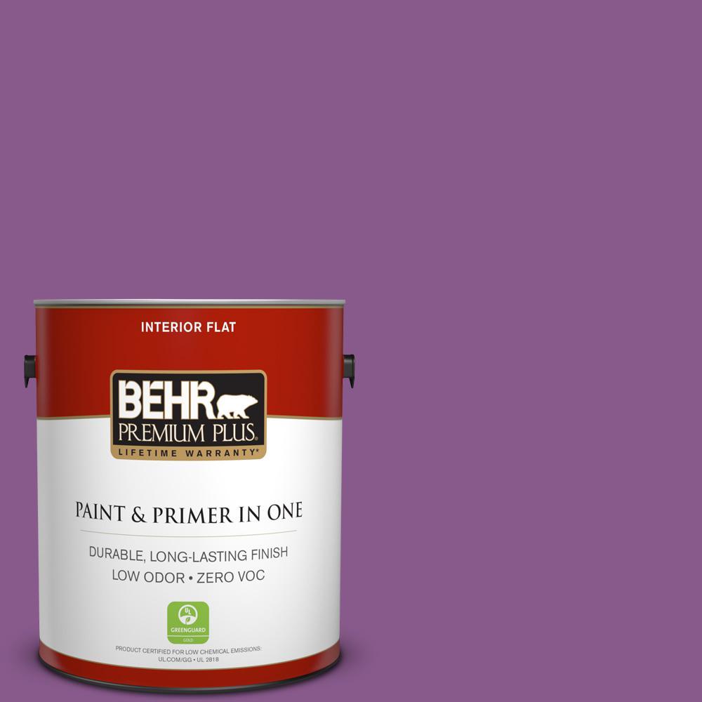 BEHR Premium Plus 1-gal. #670B-7 Candy Violet Zero VOC Flat Interior Paint