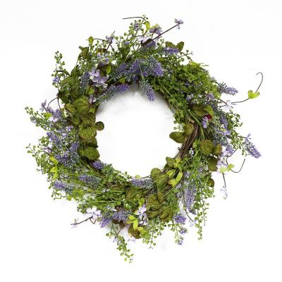 22 in. Wreath with Lavender