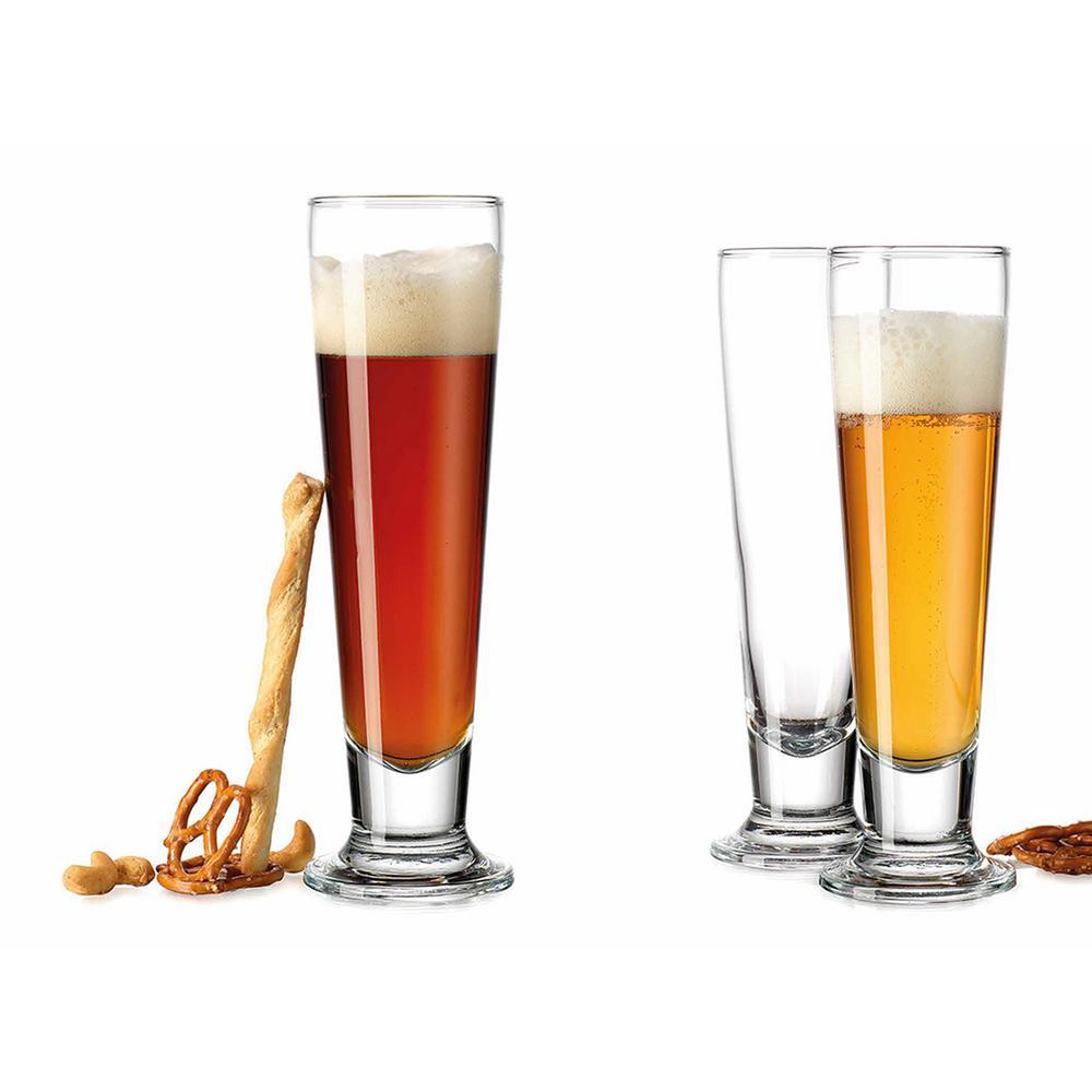 HOME ESSENTIALS & BEYOND Bar Essentials 14 oz. Pilsner Glasses (Set of 4)