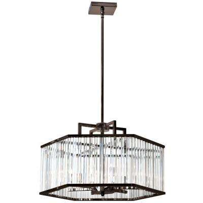 Aruba 6-Light Vintage Oiled Brushed Bronze Chandelier