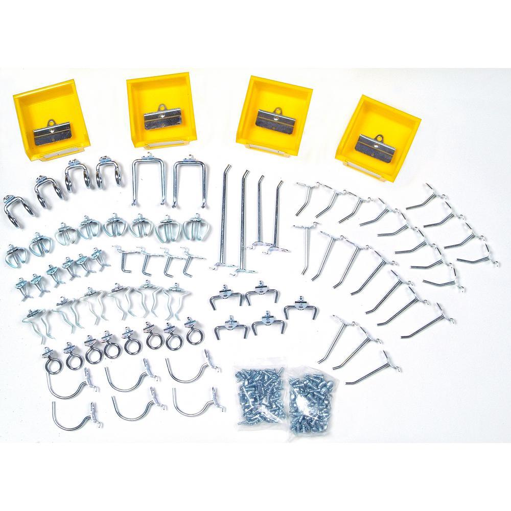 Triton Products DuraHook 1/4 in. Pegboard Hook Kit Wall Organizer