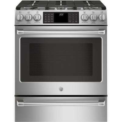 Cafe 5.7 cu. ft. Slide-In Smart Oven Dual Fuel Range with Self-Cleaning Convection and WiFi in Stainless Steel