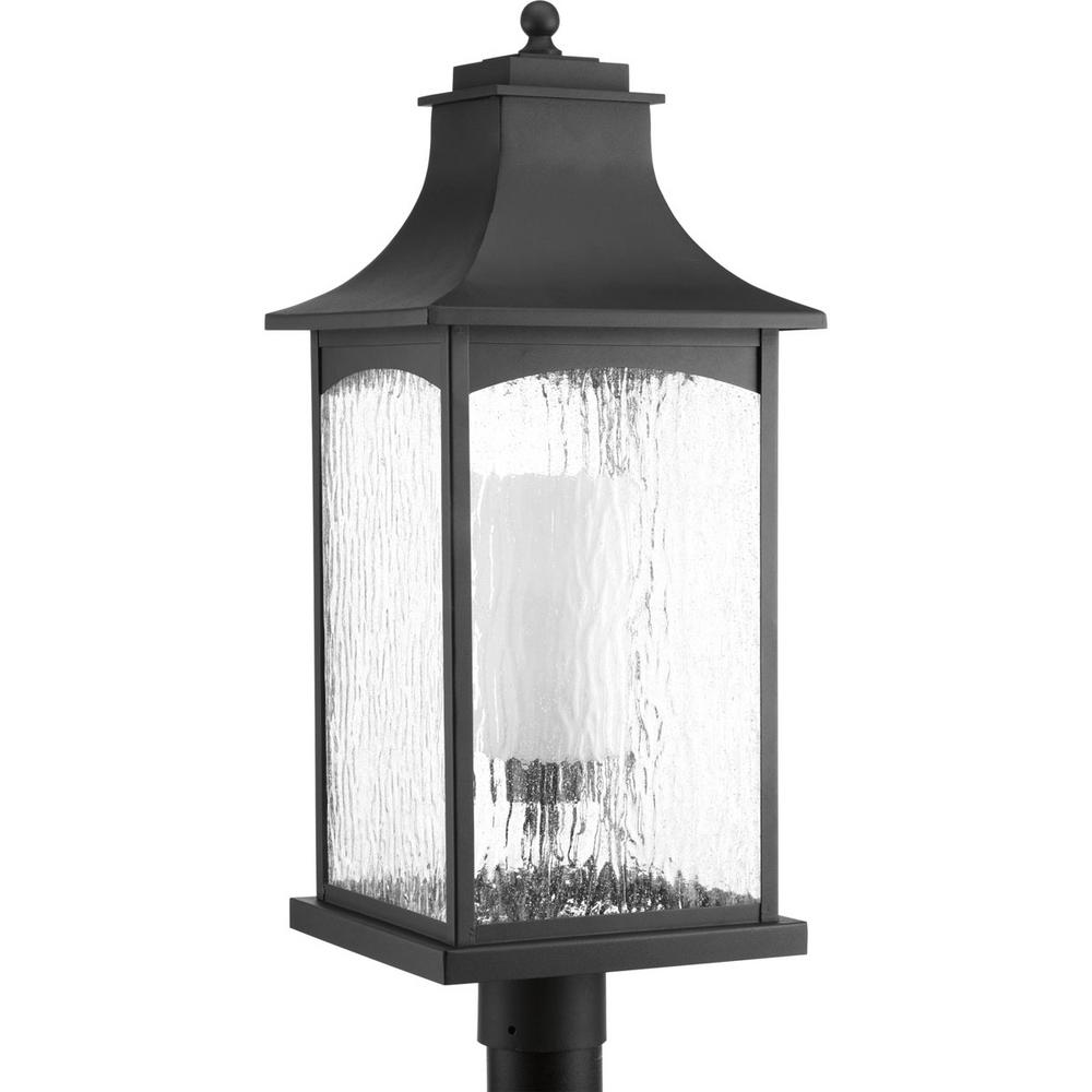 Maison Collection 1-Light Black Outdoor Post Lantern