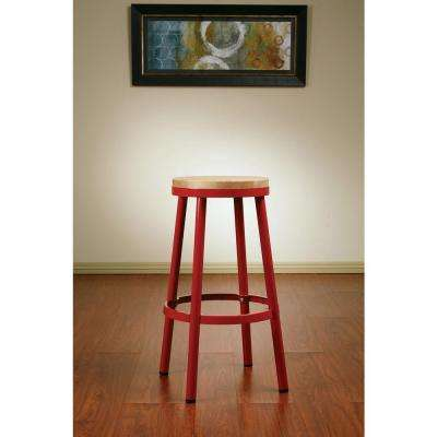 Bristow 30.25 in. Red Bar Stool