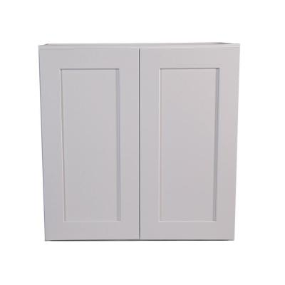 Brookings Plywood Ready to Assemble Shaker 24x36x12 in. 2-Door Wall Kitchen Cabinet in White
