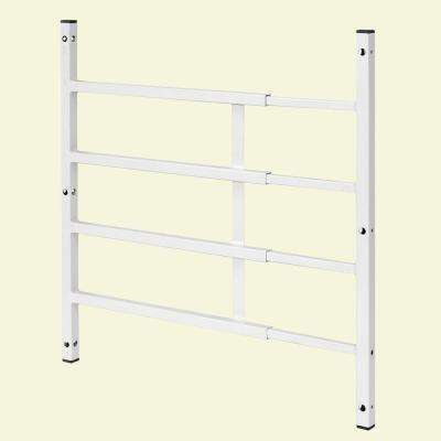 21 in., White, Carbon Steel, Fixed 4-Bar Window Grill