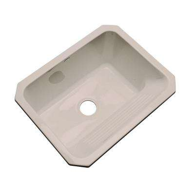 Kensington Undermount Acrylic 25 in. Single Bowl Utility Sink in Almond