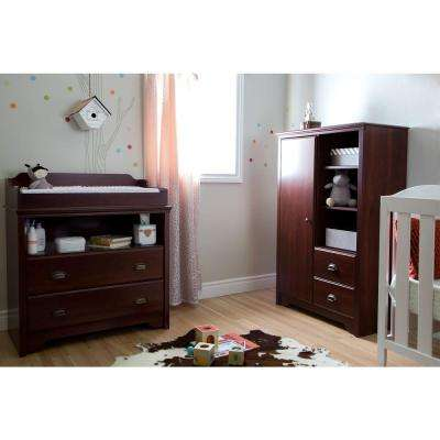 Fundy Tide 2-Drawer Royal Cherry Changing Table