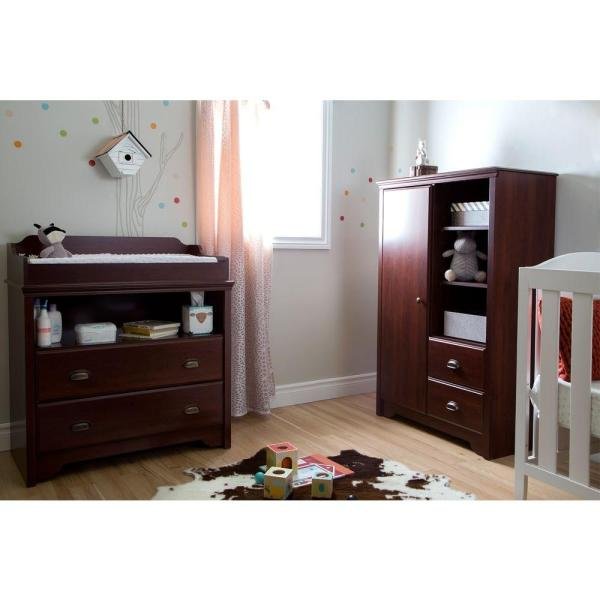 South Shore Fundy Tide 2-Drawer Royal Cherry Changing Table 9022331