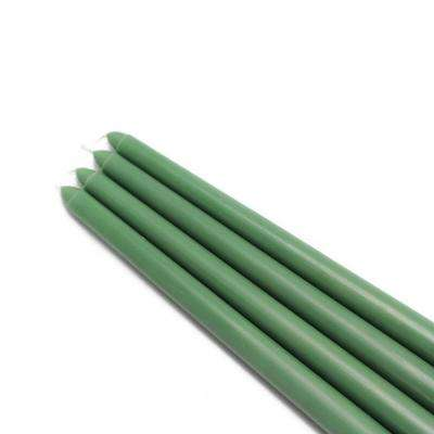 12 in. Hunter Green Taper Candles (12-Set)