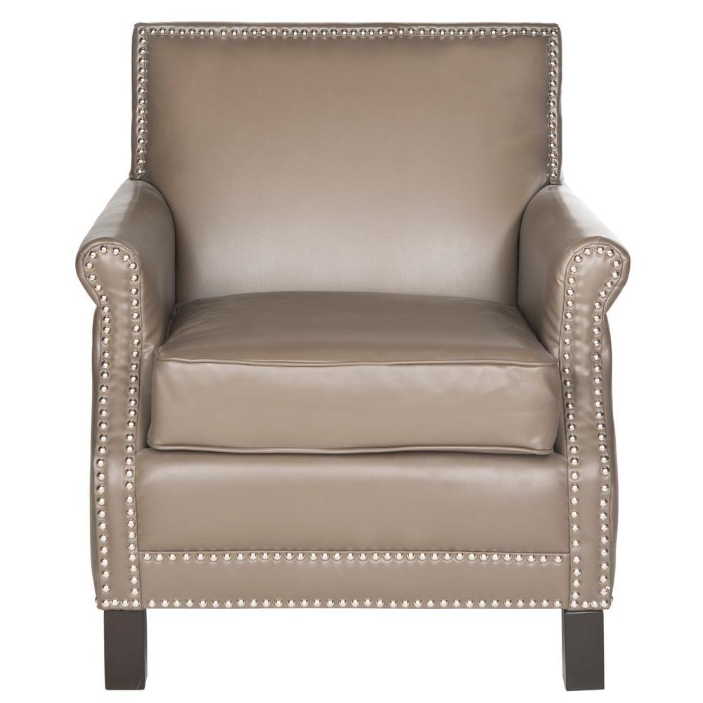 Easton Clay/Espresso Bicast Leather Club Arm Chair