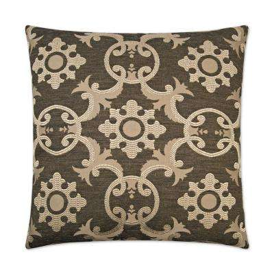Biblos Black Feather Down 24 in. x 24 in. Standard Decorative Throw Pillow